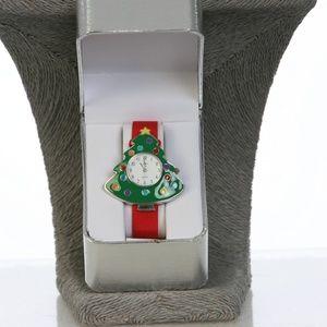 Wrist Watch Christmas Tree Holiday Fun New N Box